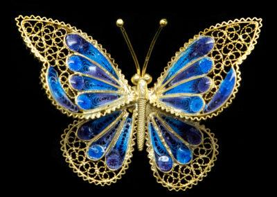 Stříbrný šperk - brož Alioto