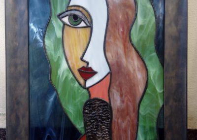 Svůdnice - vitrážový obraz